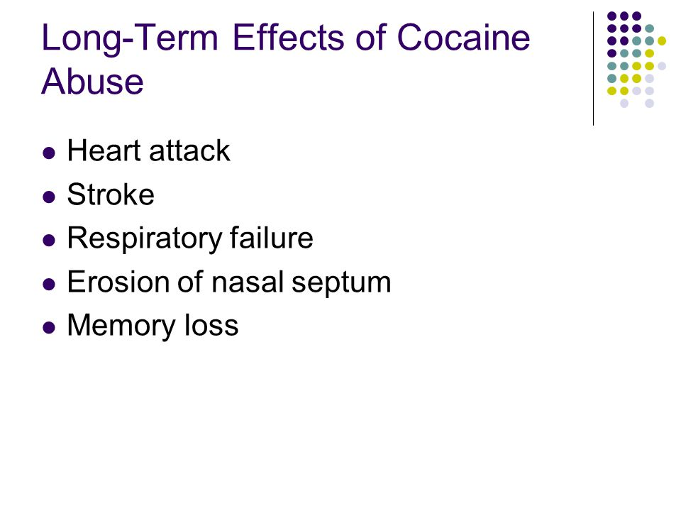 Long-Term Effects of Cocaine Abuse