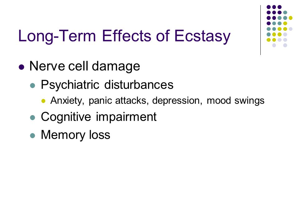 The long term and cognitive functioning effects of ecstasy