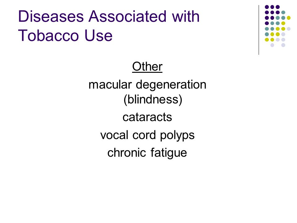 Diseases Associated with Tobacco Use