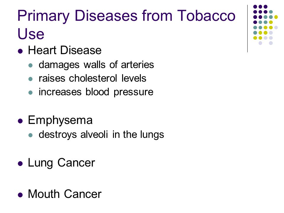 Primary Diseases from Tobacco Use
