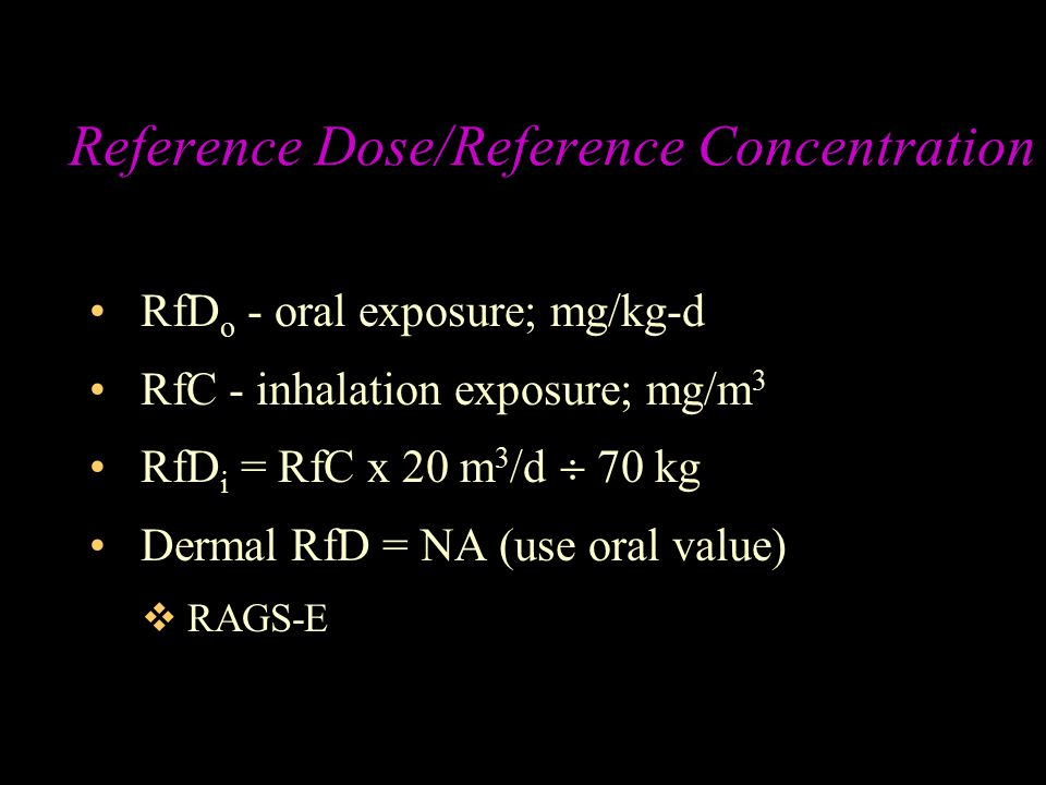 Reference Dose/Reference Concentration