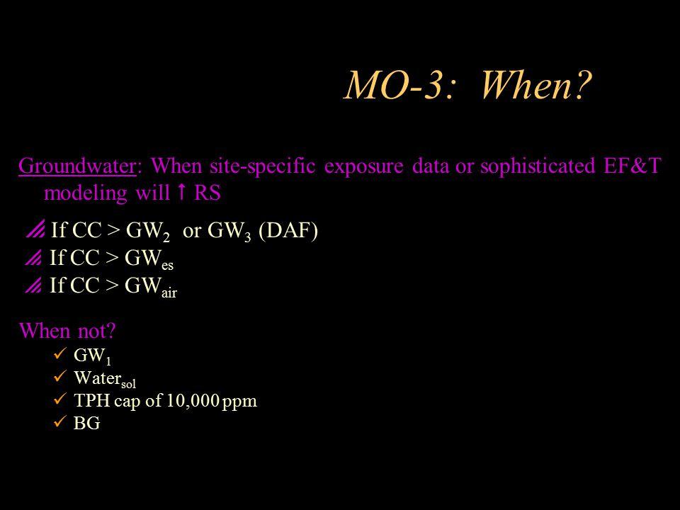 MO-3: When If CC > GW2 or GW3 (DAF)