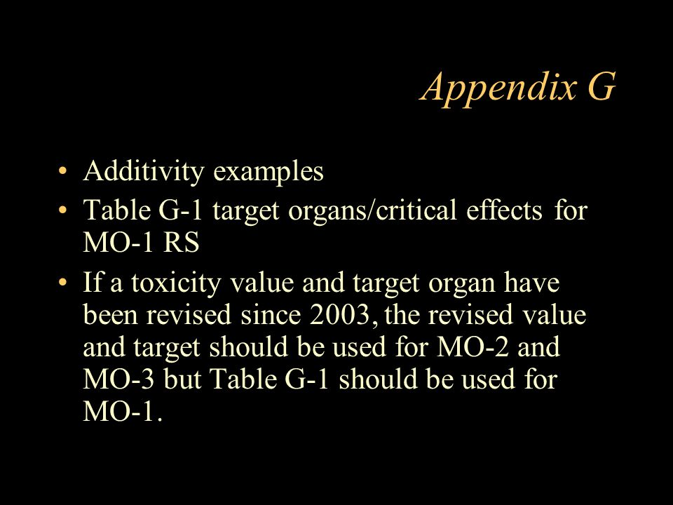 Appendix G Additivity examples