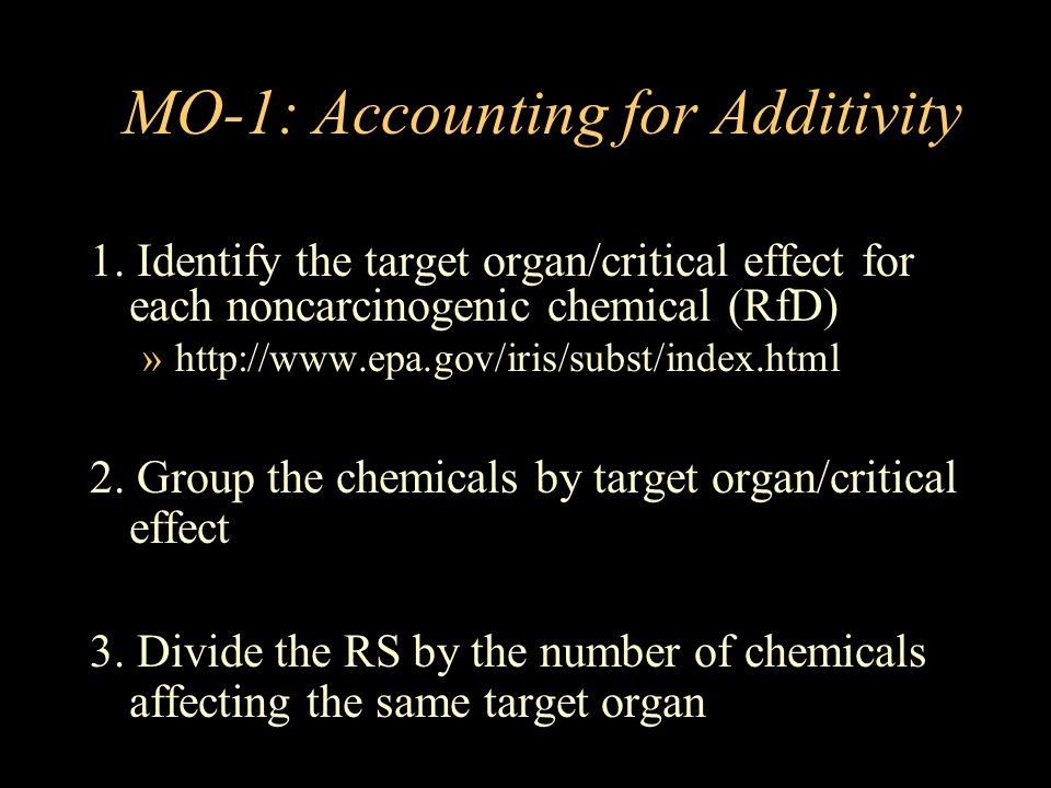 MO-1: Accounting for Additivity
