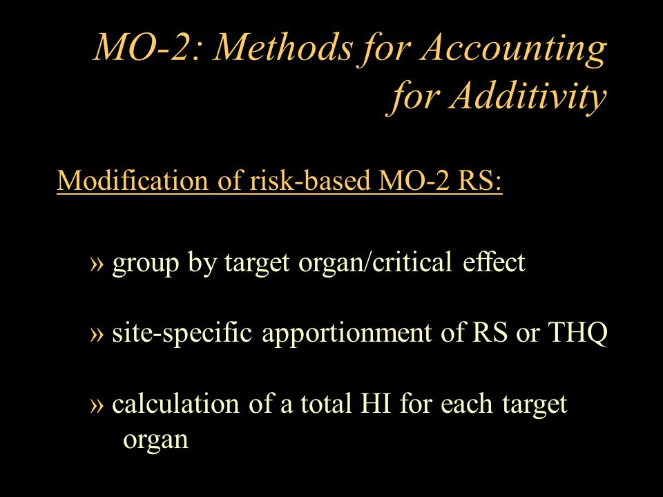 MO-2: Methods for Accounting for Additivity