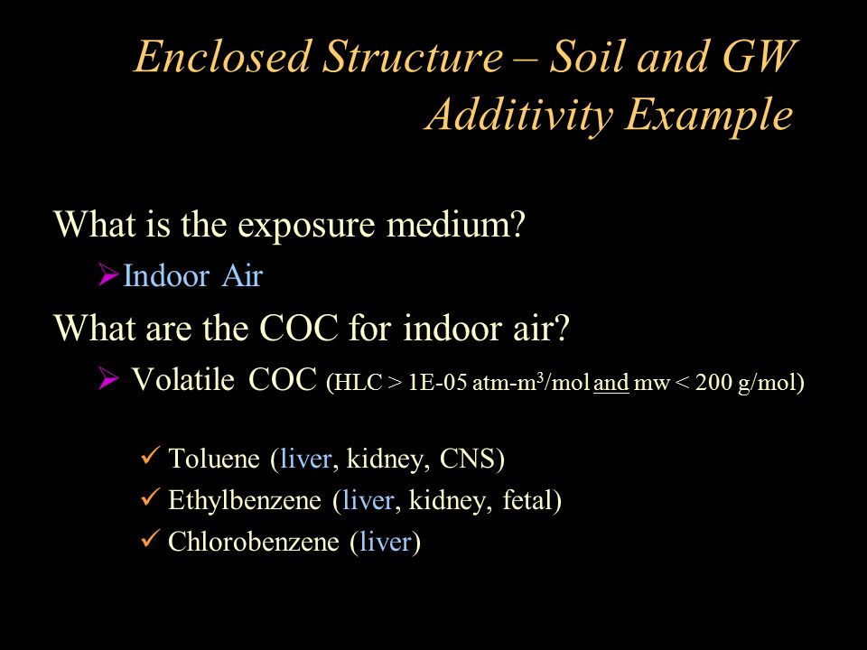 Enclosed Structure – Soil and GW Additivity Example
