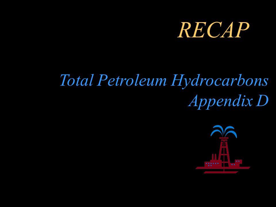 RECAP Total Petroleum Hydrocarbons Appendix D