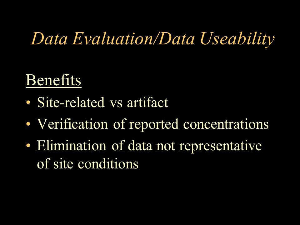 Data Evaluation/Data Useability
