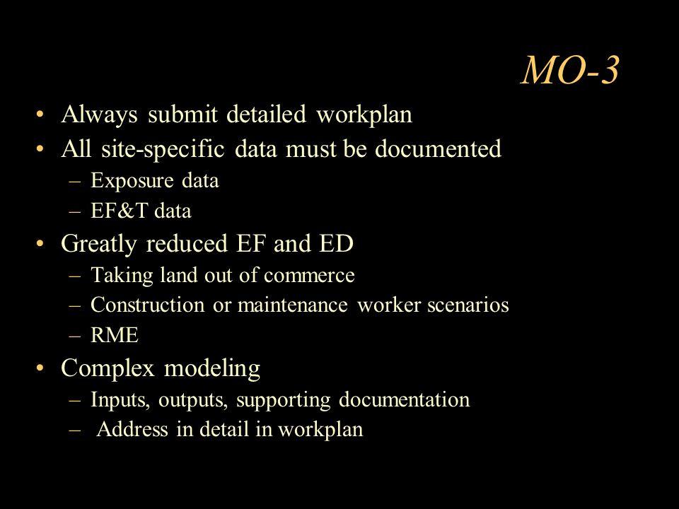 MO-3 Always submit detailed workplan