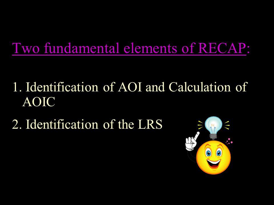 Two fundamental elements of RECAP: