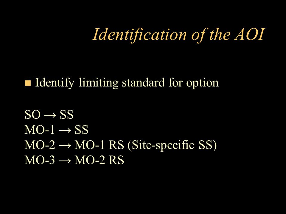 Identification of the AOI