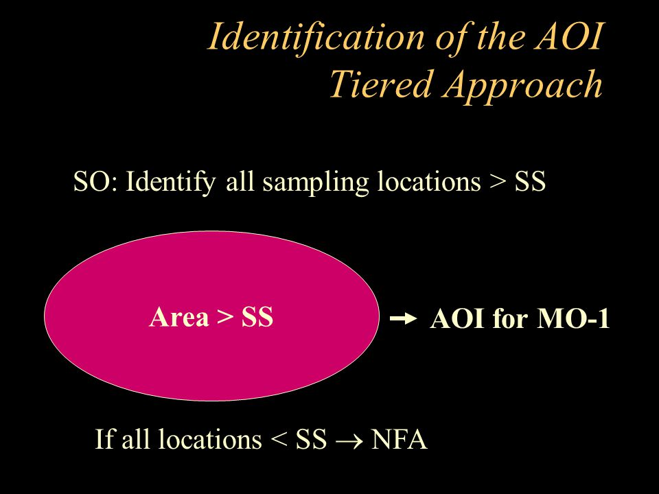 Identification of the AOI Tiered Approach