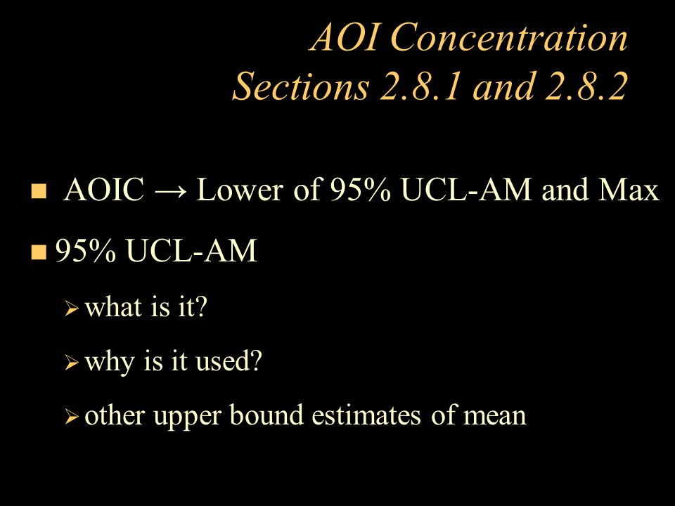 AOI Concentration Sections 2.8.1 and 2.8.2