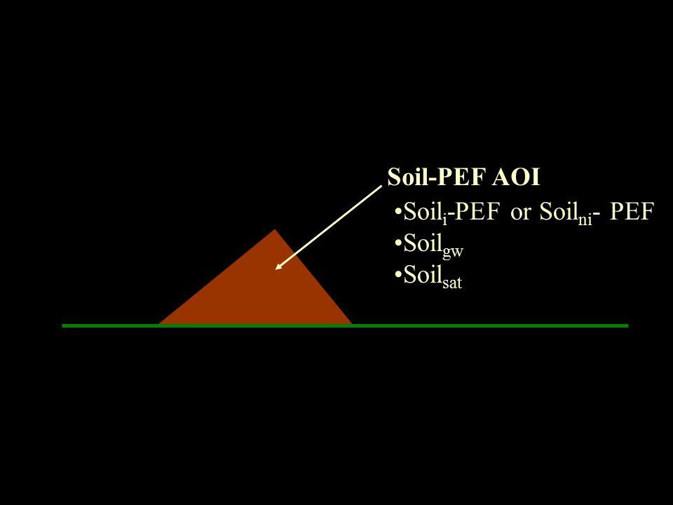 Soil-PEF AOI Soili-PEF or Soilni- PEF Soilgw Soilsat