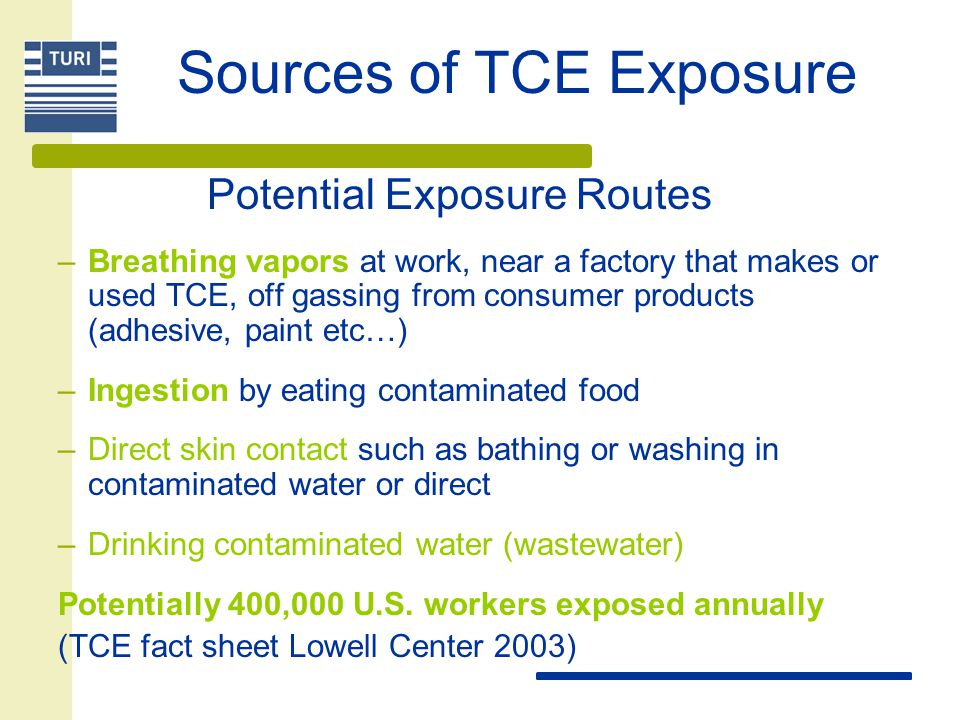 Sources of TCE Exposure