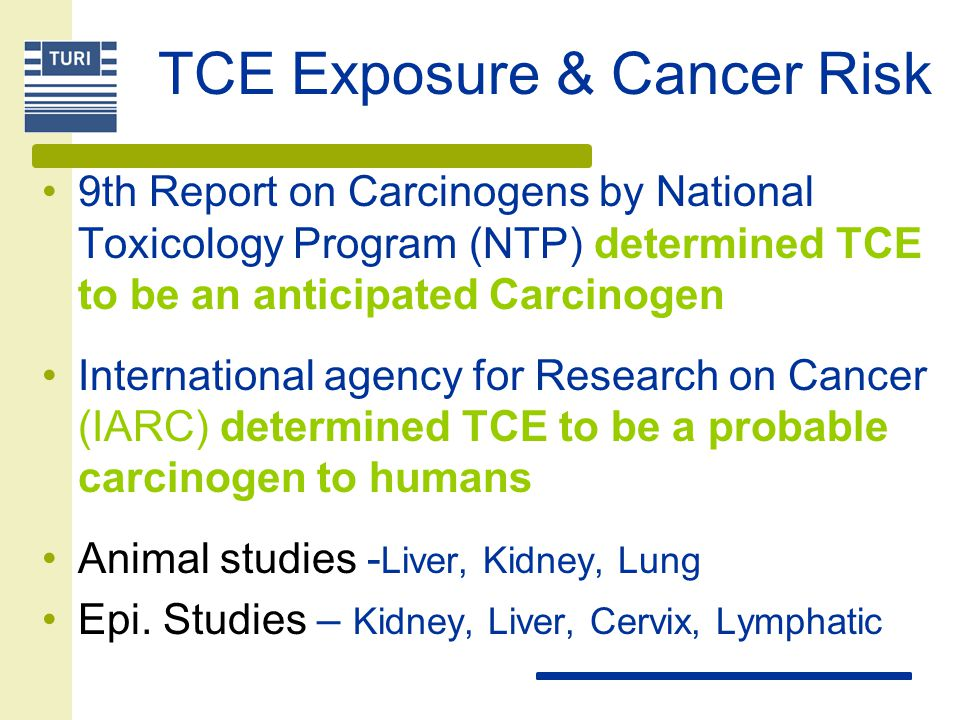 TCE Exposure & Cancer Risk