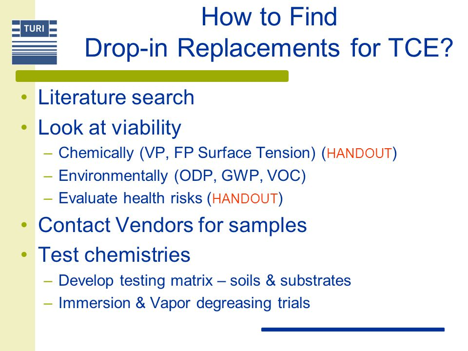 How to Find Drop-in Replacements for TCE