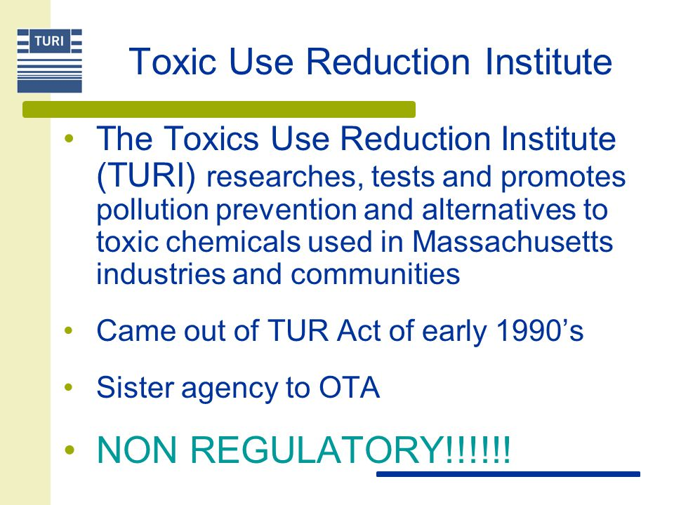 Toxic Use Reduction Institute