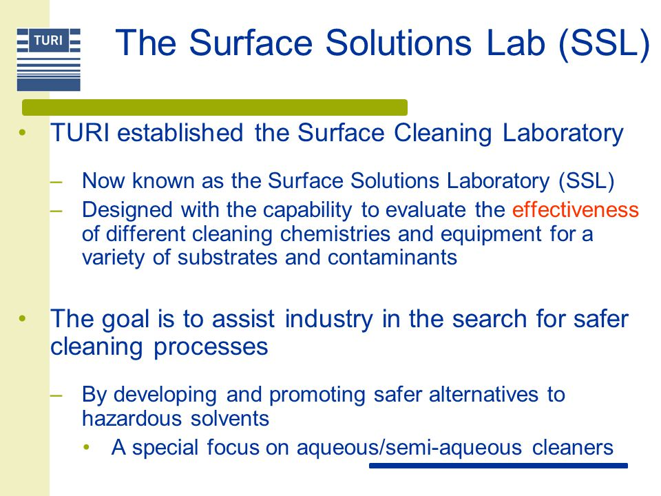 The Surface Solutions Lab (SSL)