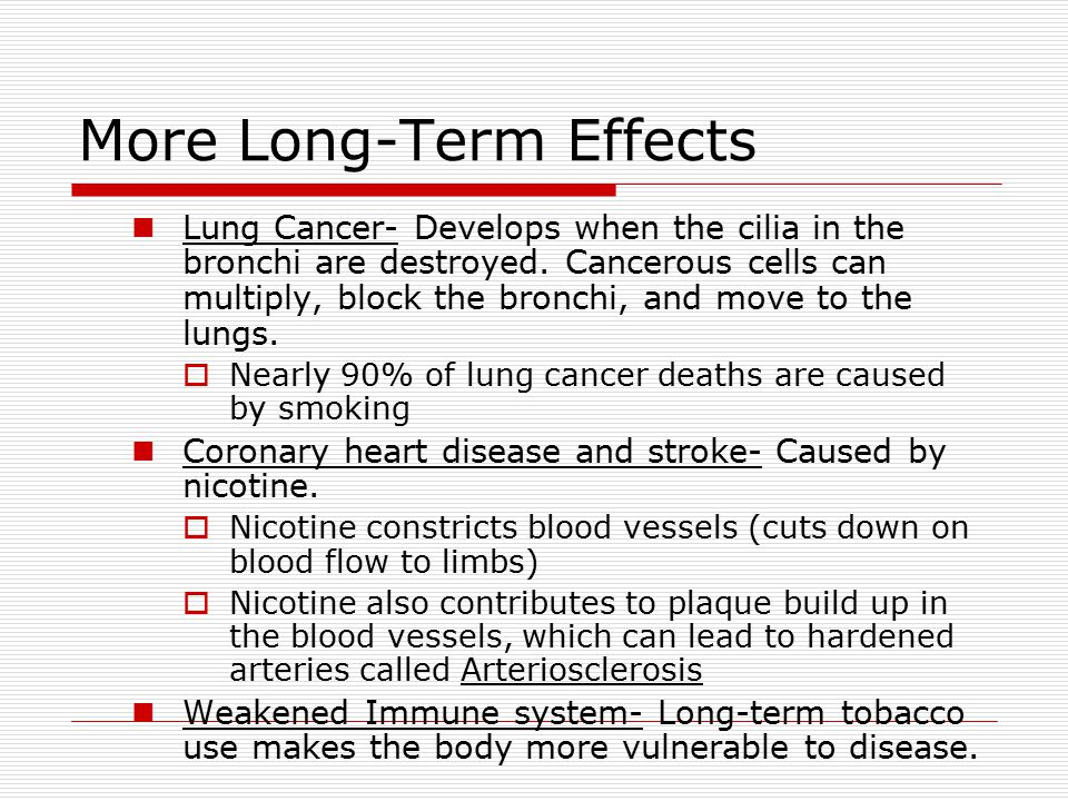 More Long-Term Effects