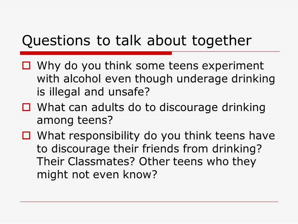 Questions to talk about together