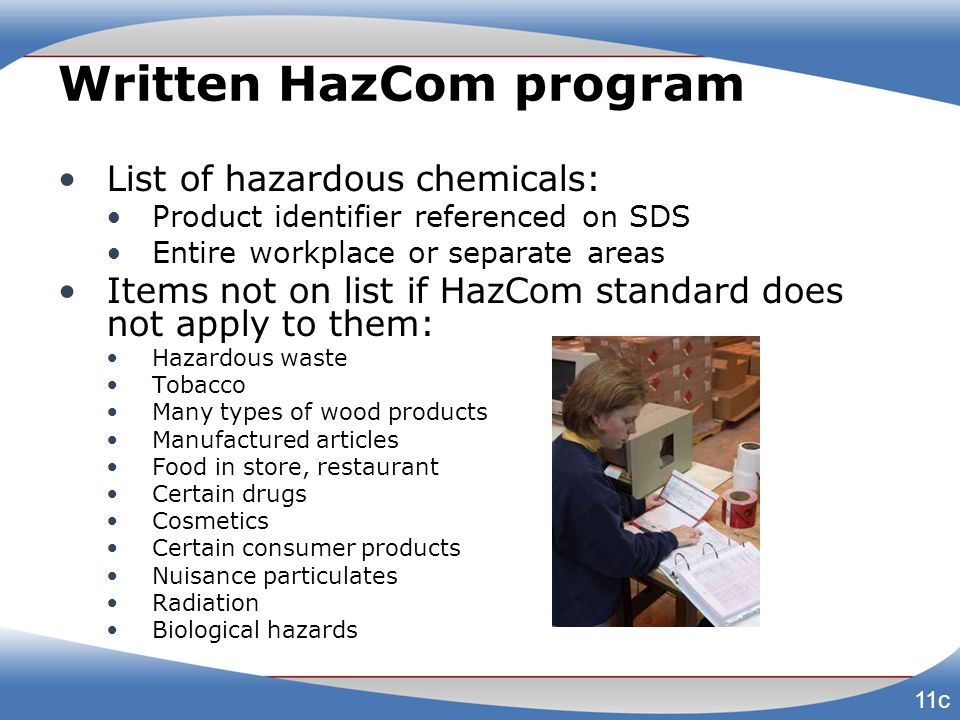Written HazCom program