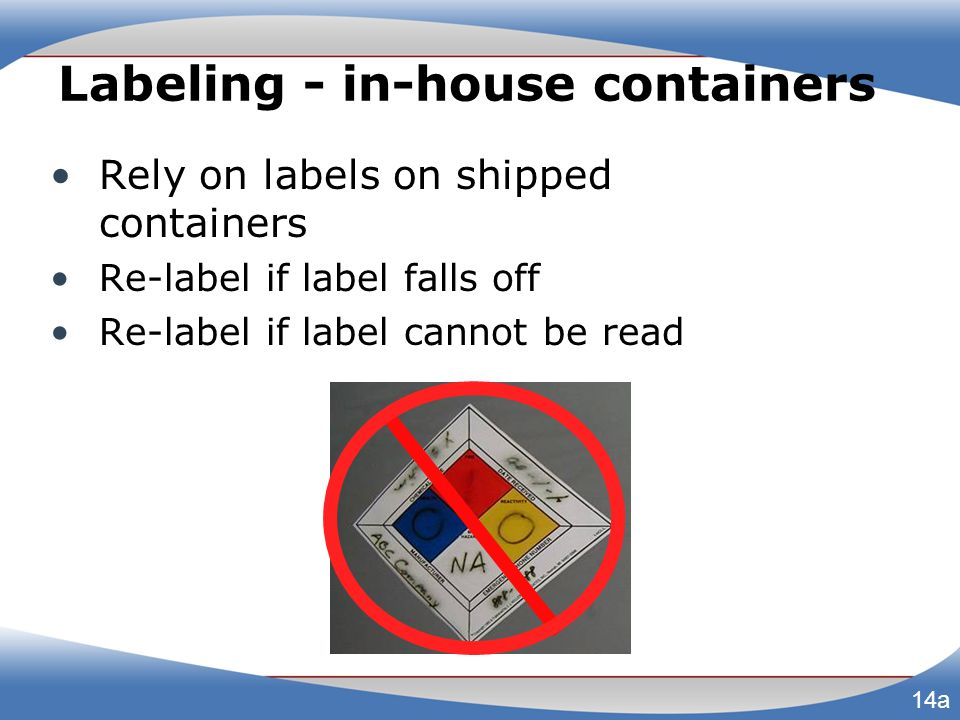 Labeling - in-house containers