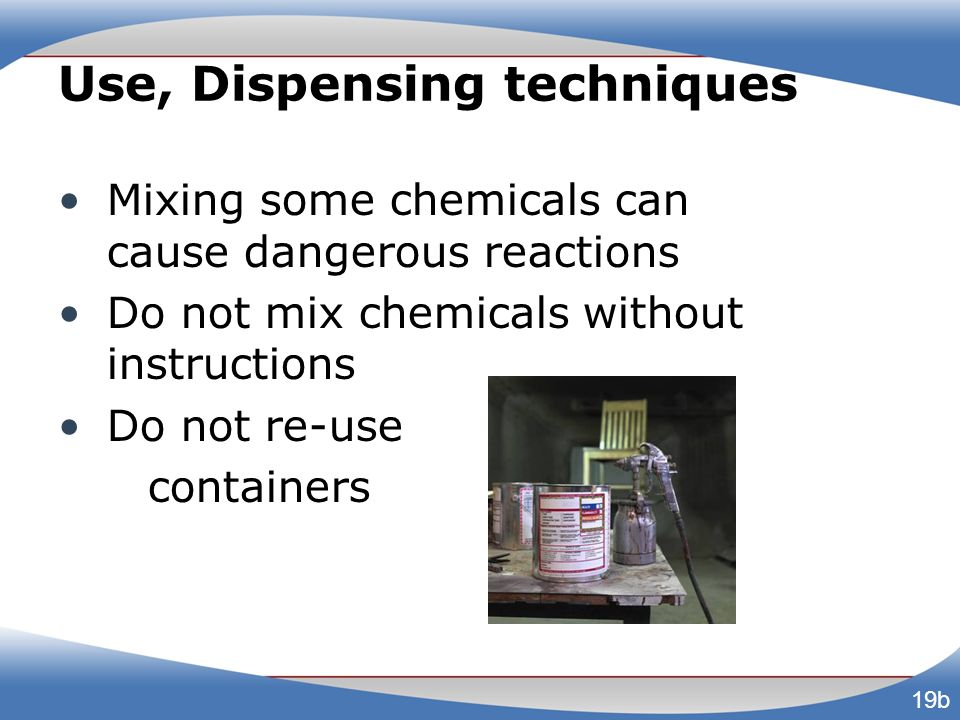 Use, Dispensing techniques