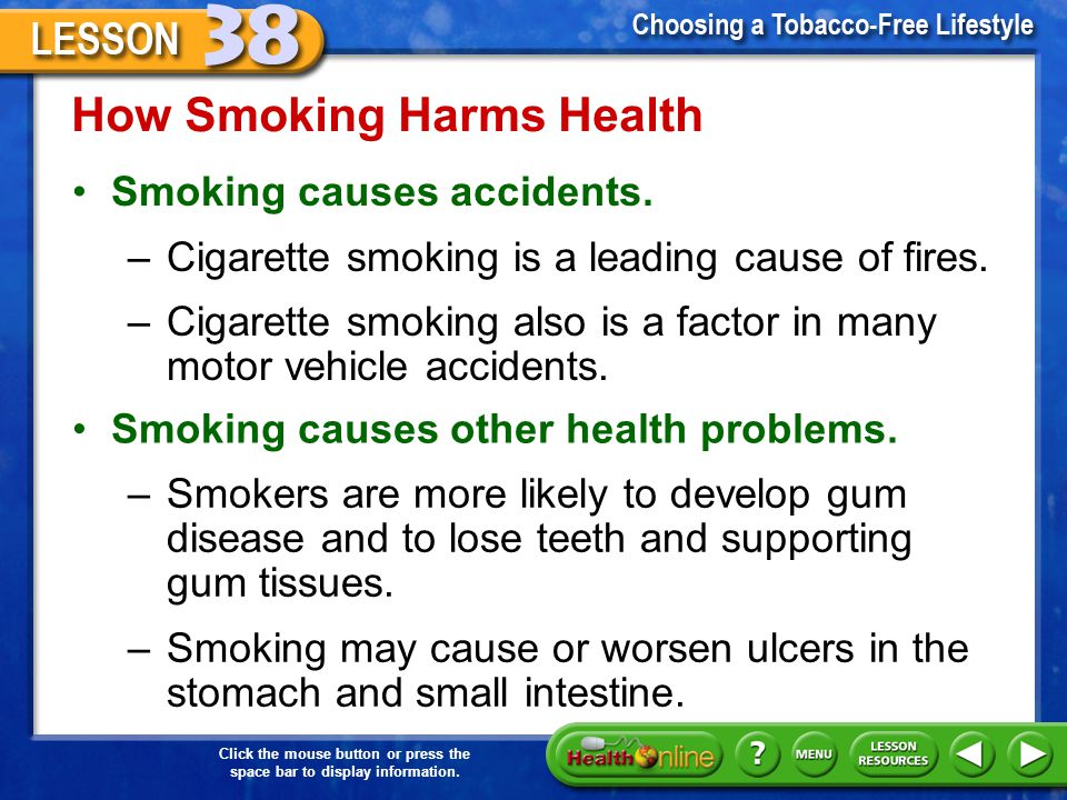 How Smoking Harms Health