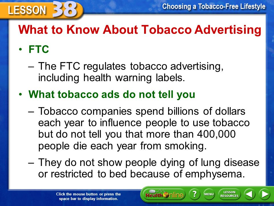 What to Know About Tobacco Advertising