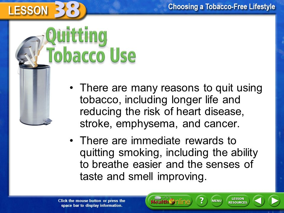 Quitting Tobacco Use