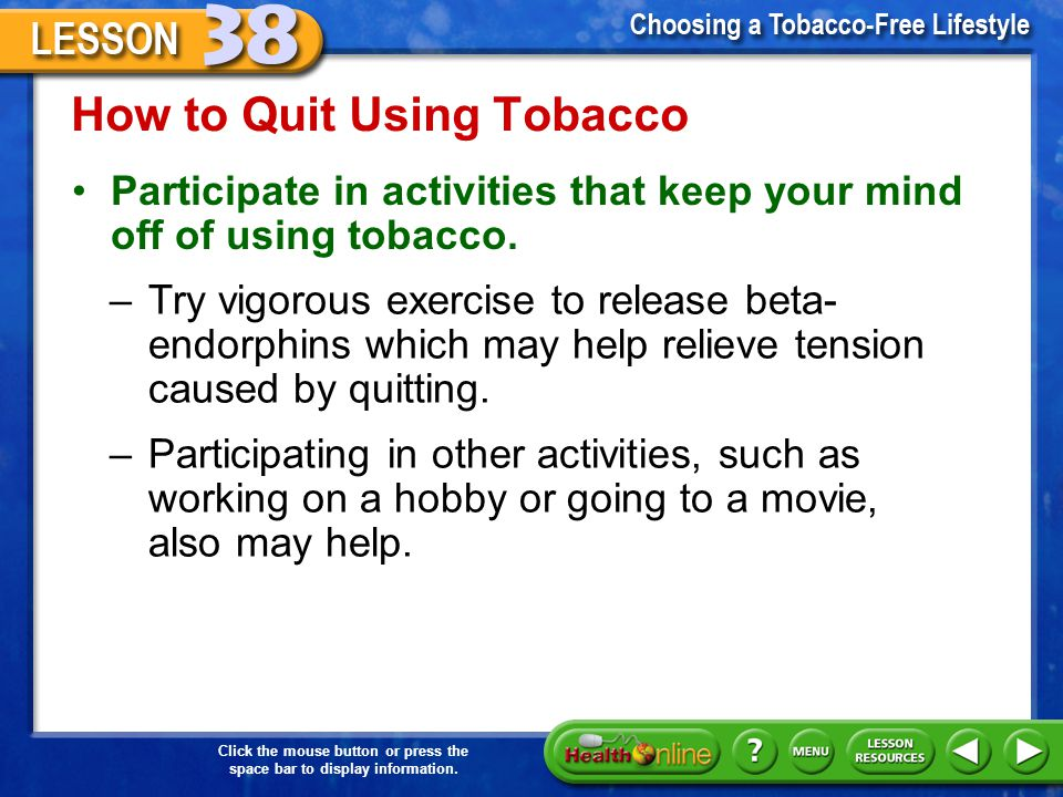 How to Quit Using Tobacco