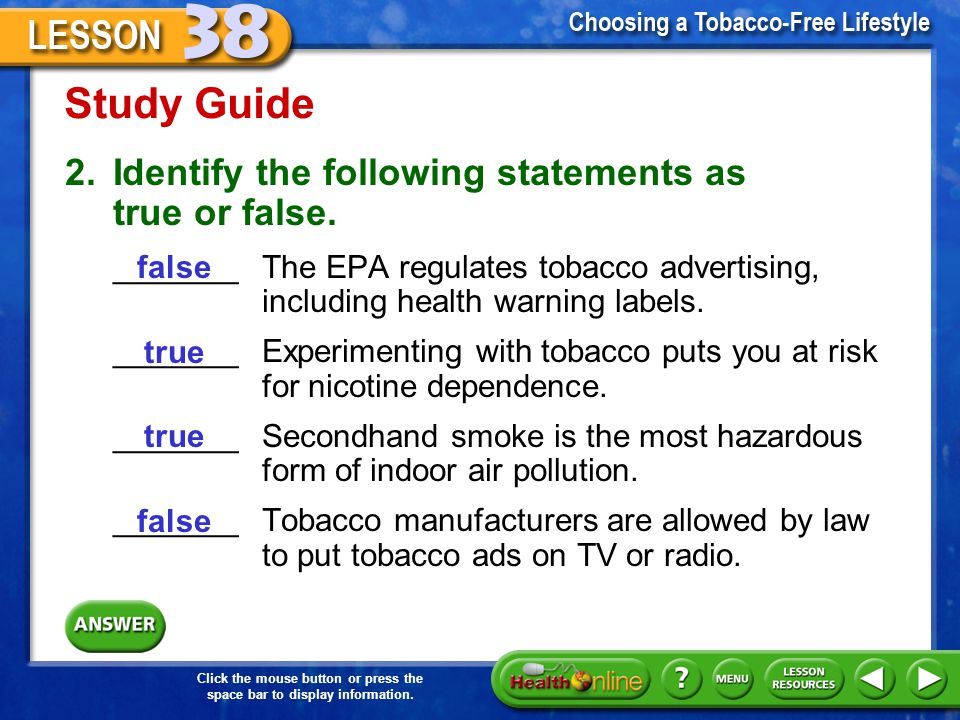 Study Guide 2. Identify the following statements as true or false.