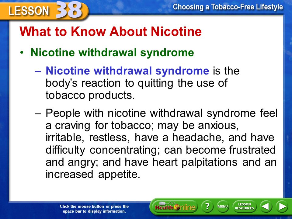 What to Know About Nicotine