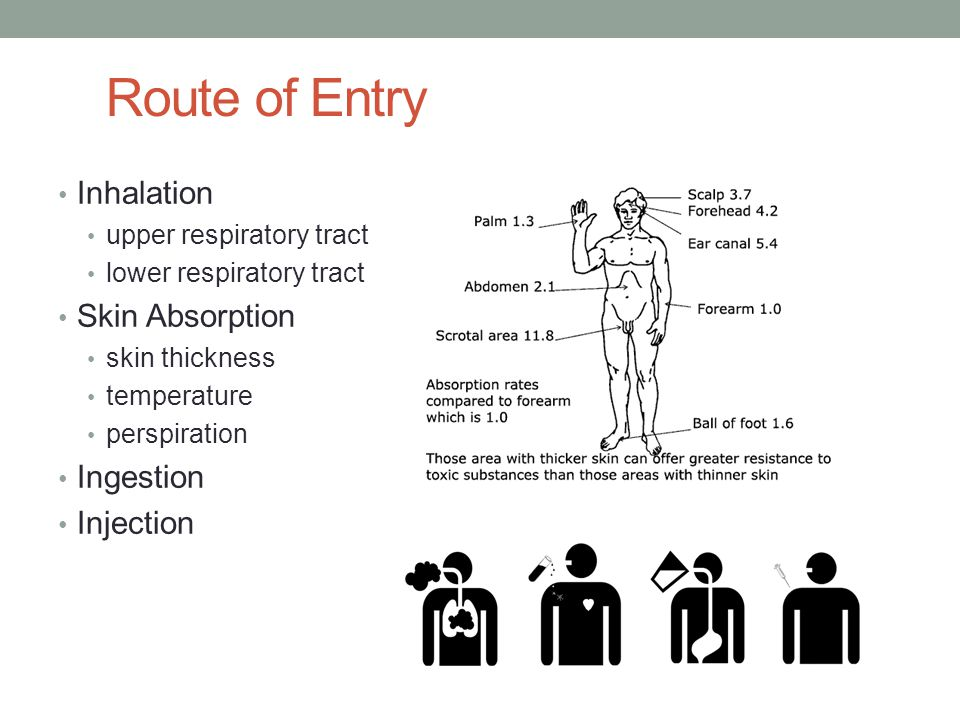 Route of Entry Inhalation Skin Absorption Ingestion Injection