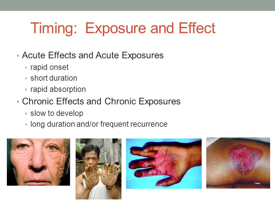 Timing: Exposure and Effect