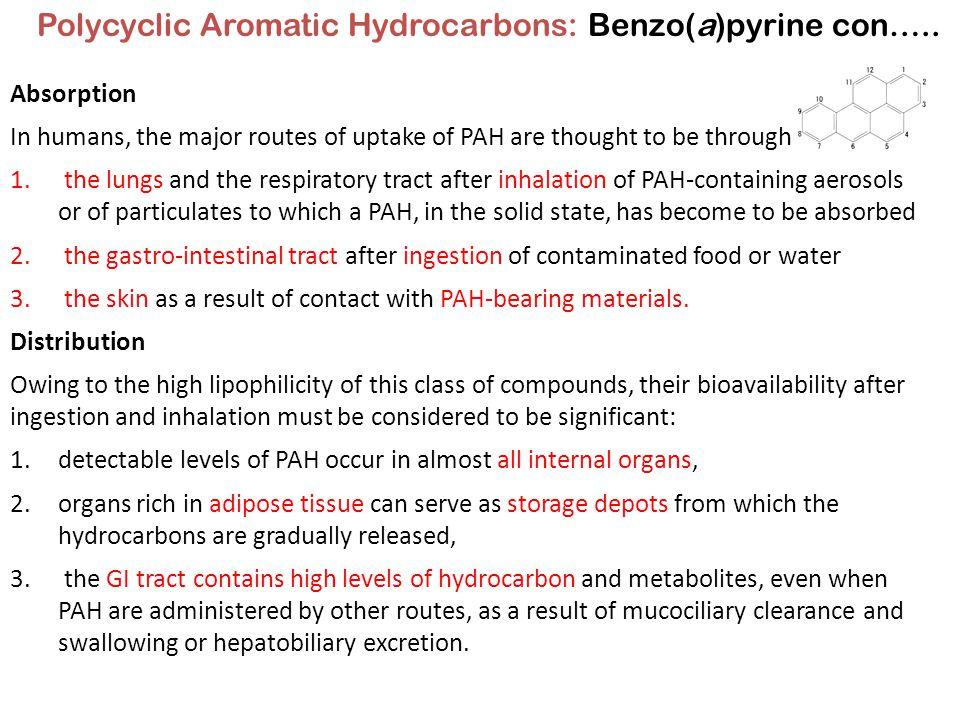 Polycyclic Aromatic Hydrocarbons: Benzo(a)pyrine con…..