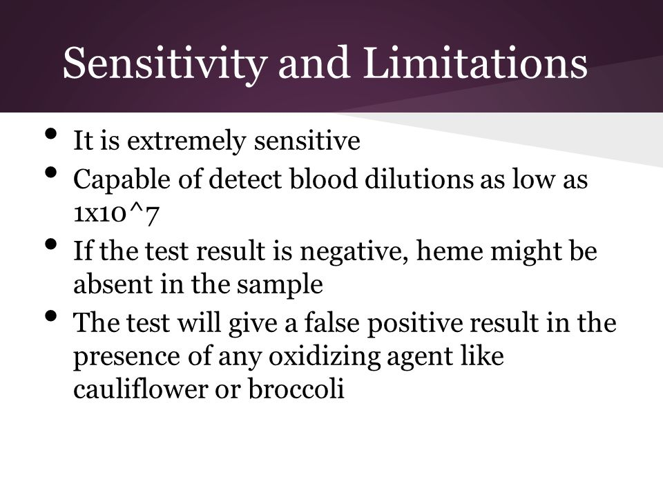 Sensitivity and Limitations
