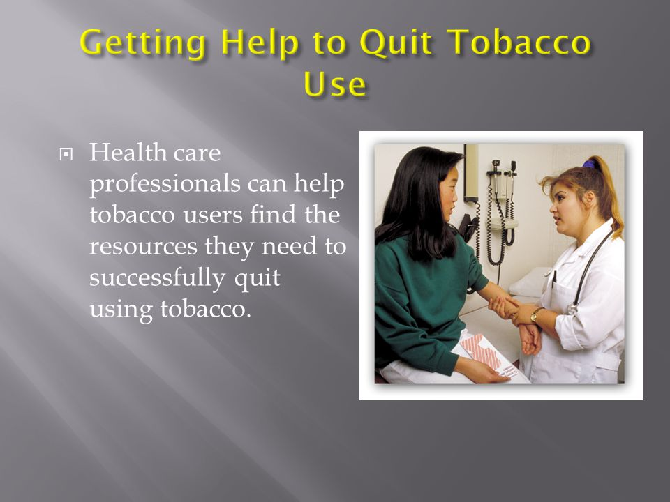 Getting Help to Quit Tobacco Use