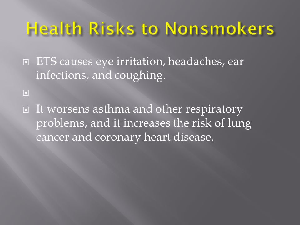 Health Risks to Nonsmokers