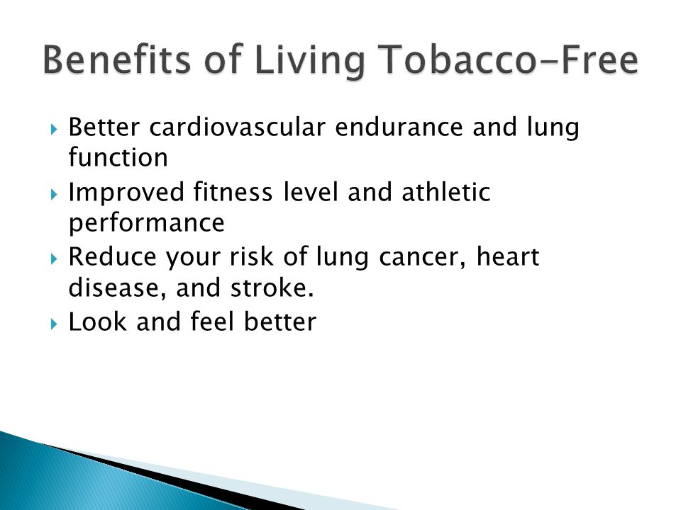 Benefits of Living Tobacco-Free