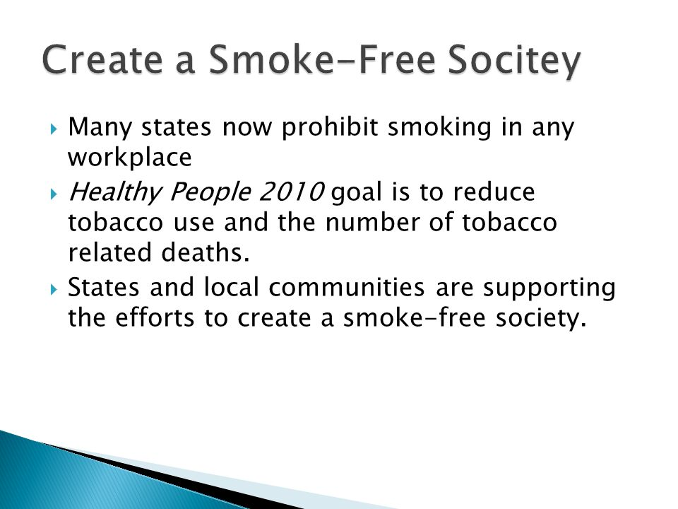Create a Smoke-Free Socitey