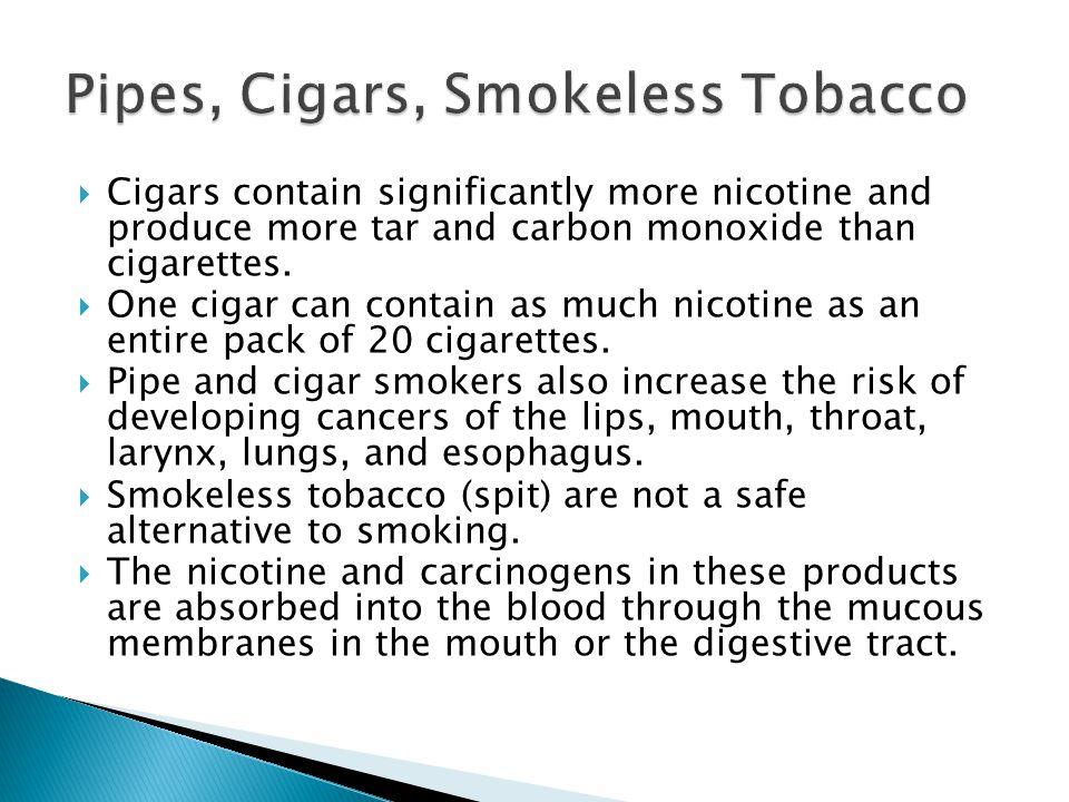 Pipes, Cigars, Smokeless Tobacco