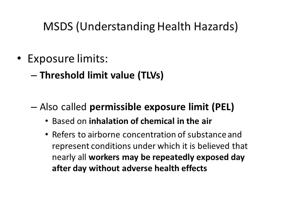 MSDS (Understanding Health Hazards)