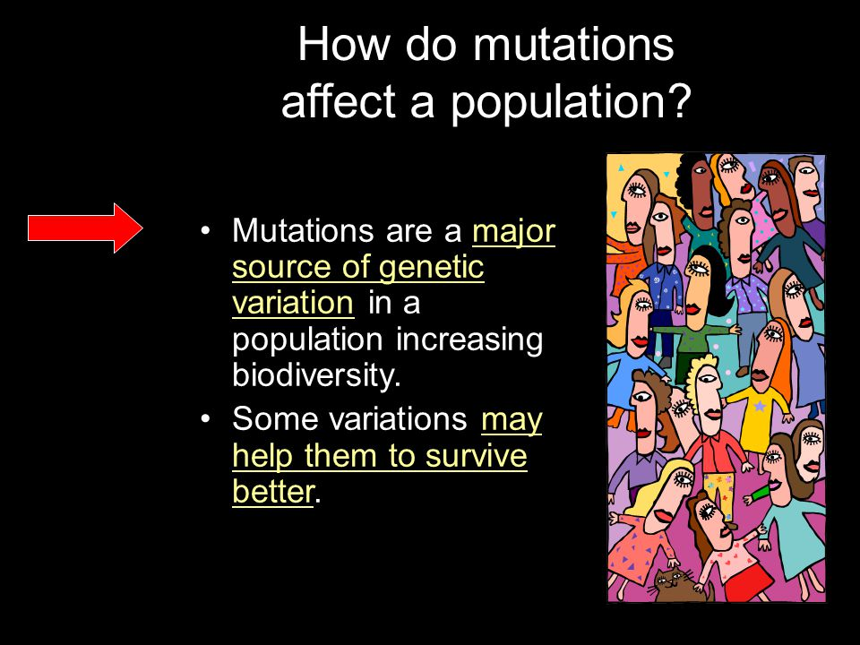 How do mutations affect a population