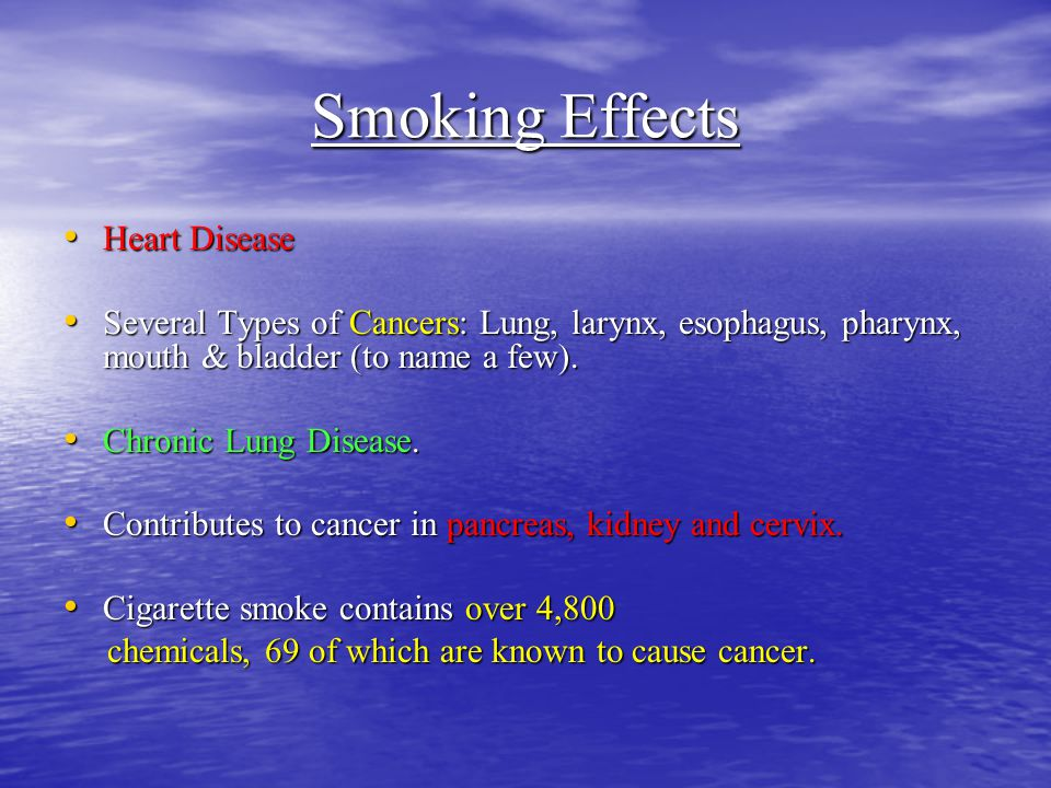 Smoking Effects Heart Disease