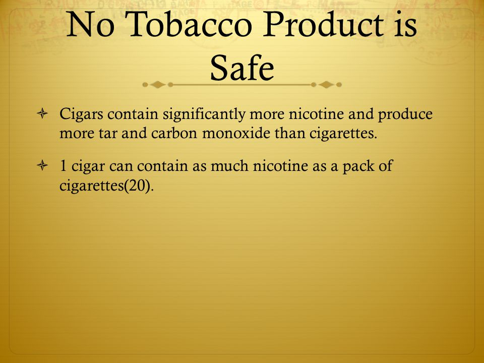 No Tobacco Product is Safe