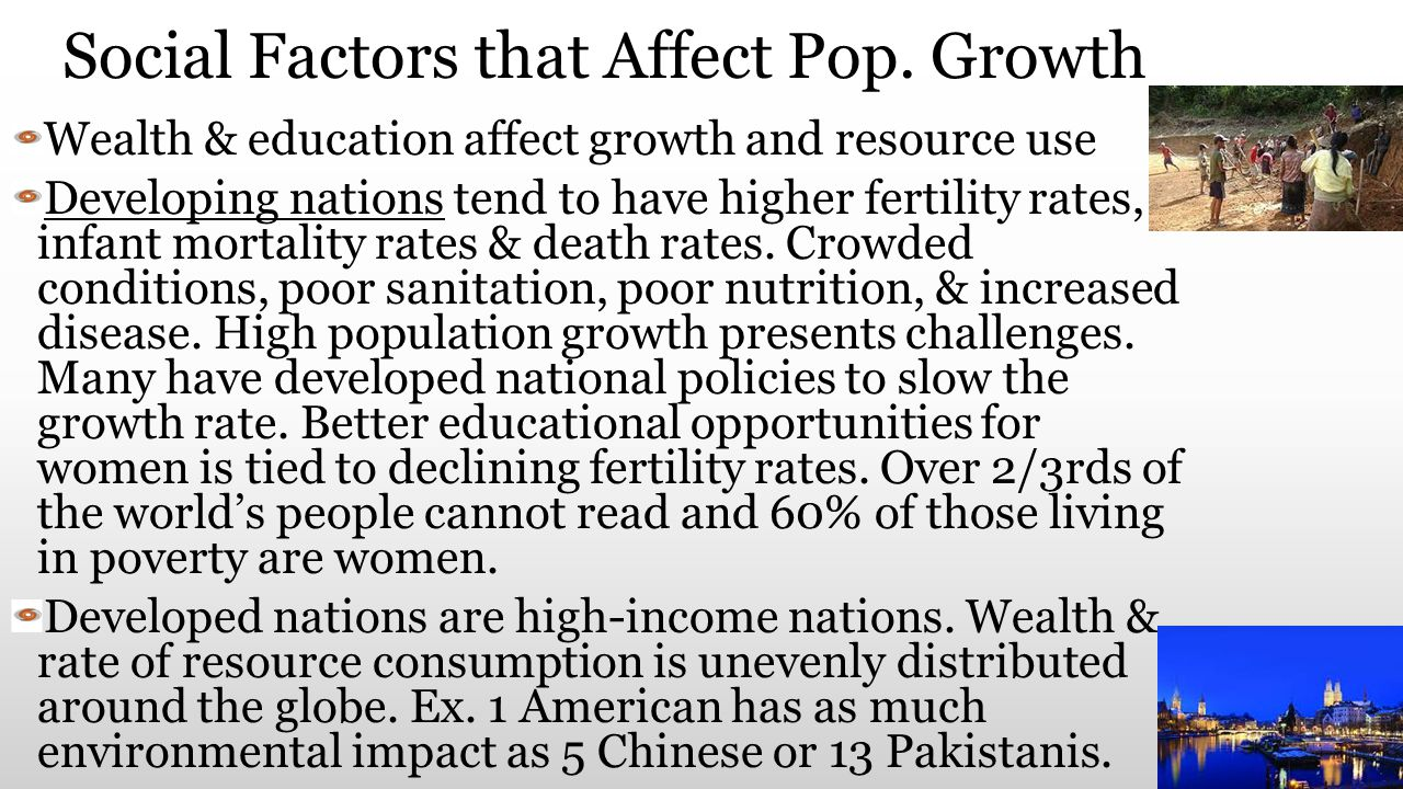 Social Factors that Affect Pop. Growth