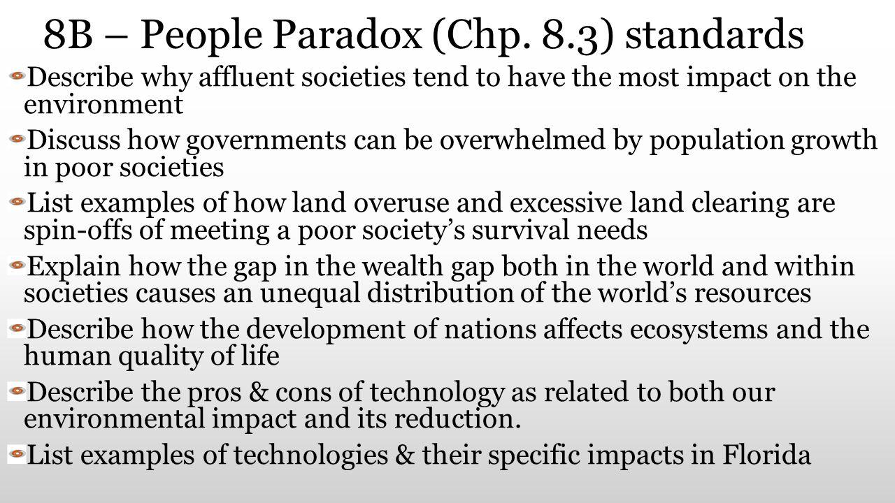 8B – People Paradox (Chp. 8.3) standards