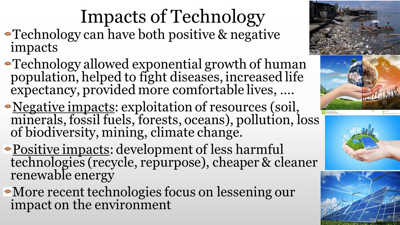 impact of the technology in the The advancement of new technology has been he still worries about the advance in technology and had a 'deep concern about the possible social impact of.